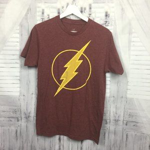 Flash Tee Shirt Red DC Hero Short Sleeve 34/36 S